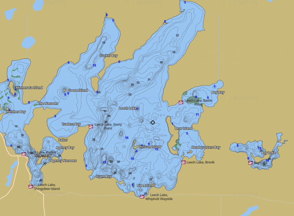 Leech Lake Depth Map App