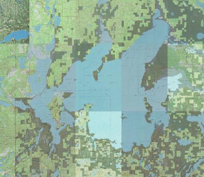 Leech Lake Topographic Map