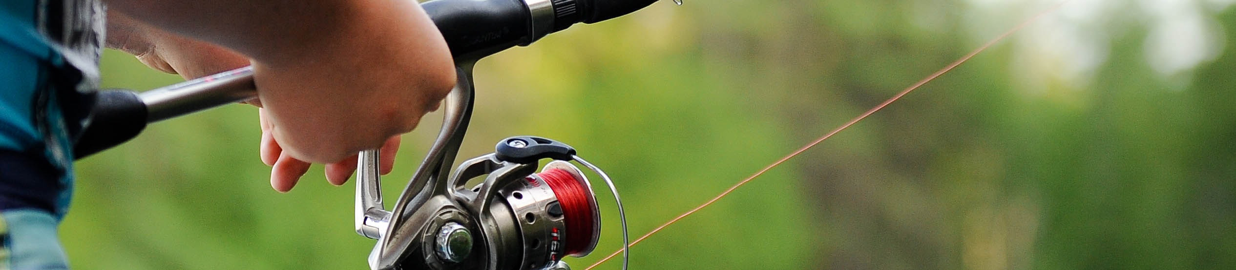 Holding a fishing rod