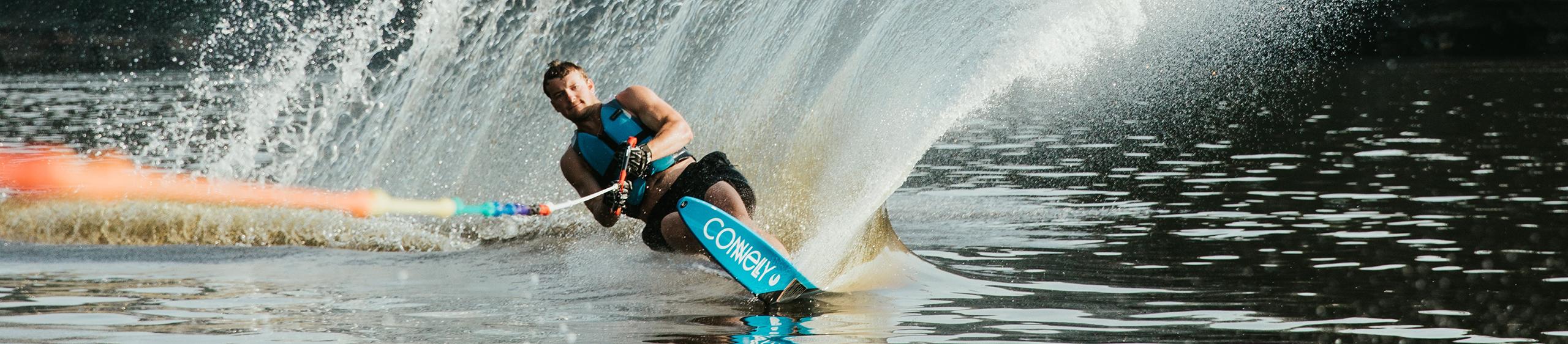 waterskiing on leech lake